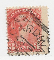 24733) Canada Victoria Squared Circle Postmark Cancel - Used Stamps