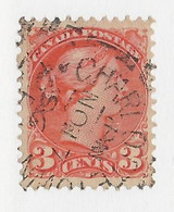 24734) Canada Victoria Squared Circle Postmark Cancel - Used Stamps