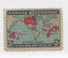 24762) Canada 1898 Christmas Map Mint Hinge * No Gum - Unused Stamps