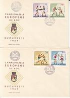 SPORTS, BOXING, EUROPEAN CHAMPIONSHIPS, COVER FDC, 2X, 1969, ROMANIA - Pugilato