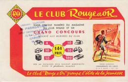 Buvard - Blotter - La Bibliothèque Rouge Et Or - Paluel Marmont -  Tampon Librairie Parmentier Lunéville - Ohne Zuordnung