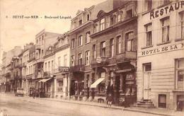 Heist - Heyst - Boulevard Léopold (animée Café Cordonnerie...1923) - Heist