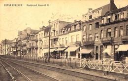 Heist - Heyst - Boulevard Léopold (Edition Lux Café Des Sports Cordonnerie...1925) - Heist