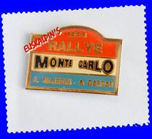 Pin's Rallye De MONTE CARLO 1993, équipage Alain MAJERUS, A. GASPAR, Monaco - Rallye