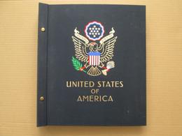 ETATS-UNIS Album DAVO (I) Couverture Tissu Avec Timbres Oblitérés US Stamps Collection USA UNITED STATES - Sammlungen