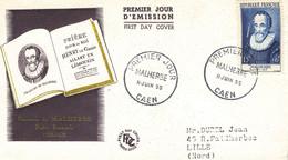 42  Lettre Fdc  François De Malherbe 1955 - 1950-1959