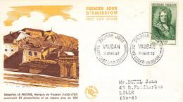 43  Lettre Fdc  Vauban 1955 - 1950-1959