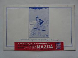 VIEUX PAPIERS - BUVARD :Pile MAZDA - Electricité & Gaz