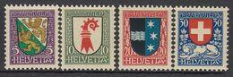 SCHWEIZ 218-221, Postfrisch **, Pro Juventute: Wappen 1926 - Neufs