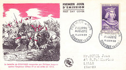 47 Lettre Fdc Philippe Auguste 1955 - 1950-1959