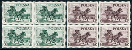 POLAND 1961 Stamp Day Blocks Of 4 MNH / **  Michel 1266-67 - Unused Stamps