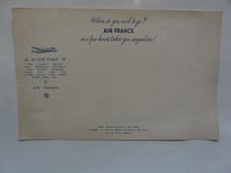 VIEUX PAPIERS - BUVARD GEANT ( 24,5 X 38,5 Cm) : AIR FRANCE - Electricité & Gaz