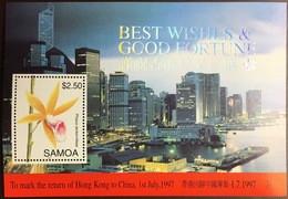 Samoa 1997 Hong Kong Flowers Minisheet MNH - Non Classificati
