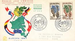 53 Lettre Fdc   Europa 1957 - 1950-1959