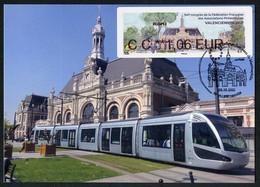 FRANCE (2021) Carte Maximum Card ATM LISA 94 Congres FFAP Valenciennes Gare SNCF, Tramway, Estación Tren, Train Station - 2010-...