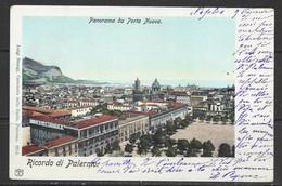 Carte P De 1901 ( Palermo / Panorama Da Porta Nuova ) - Palermo