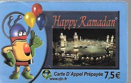 CARTE-PREPAYEE-7,5€-GALAXY-HAPPY RAMADAN-2003-Plastic Epais -Glacé-BE/RARE- - Altre Schede Prepagate