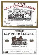 Lot De 2 Etiquettes De PREMIERES COTES  DE BLAYE    Neuves - Bordeaux