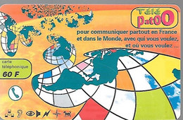CARTE-PREPAYEE-60F-SWITCH BACK-TELEPATOO-Exp 31/08/2001-Plastic Fin Glacé-Gratté-TBE - Altre Schede Prepagate