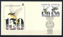 AUSTRALIE. N°888-9 De 1984 Sur Enveloppe 1er Jour. Etat De Victoria. - Primo Giorno D'emissione (FDC)