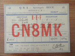 Maroc - Carte QSL Radio CN8MK - Rabat - 1932 - Radio Amatoriale