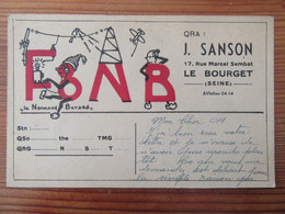 France - Carte QSL Radio F8NB - Le Bourget - Vers 1930 - Radio Amatoriale