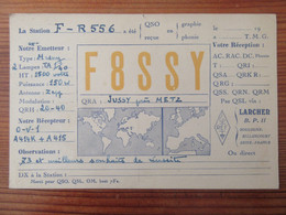 France - Carte QSL Radio F8SSY - Jussy Près Metz - Repiquage Publicitaire Philips - Vers 1930 - Radio Amatoriale