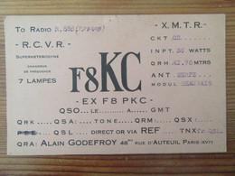 France - Carte QSL Radio F8KC - Paris - Vers 1930 - Radio Amatoriale