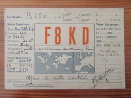 France - Carte QSL Radio F8KD - Paris - Repiquage Publicitaire Philips - Vers 1930 - Radio Amatoriale