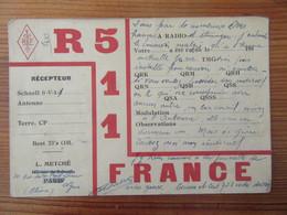 France - Carte QSL Radio R511 - Lyon - 1930 - Radio Amatoriale