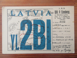 Lettonie / Latvia - Carte QSL Radio YL2BI - Riga - Vers 1930 - Radio Amatoriale