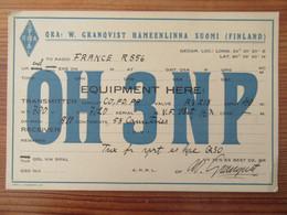 Finlande / Suomi - Carte QSL Radio OH3NP - HÄMEENLINNA - Vers 1930 - Radio Amatoriale
