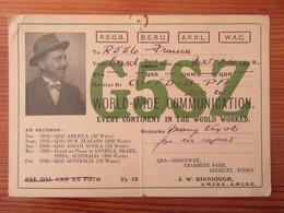 Angleterre / England - Carte QSL Radio G5SZ - Guiseley (West Yorkshire) - 1932 - Radio Amatoriale