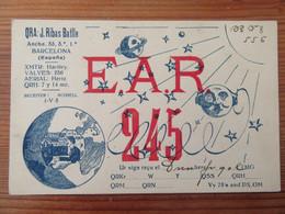 Espagne / Espana - Carte QSL Radio EAR 245 - Barcelona / Barcelone - 1933 - Radio Amatoriale