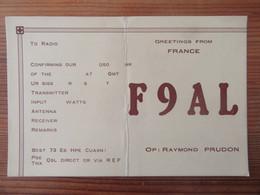 France - Carte QSL Radio F9AL - Paris - 1948 - Radio Amatoriale