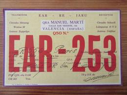 Espagne / Espana - Carte QSL Radio EAR 253 - Valencia / Valence - Vignette Red Espanola Servicio QSL - 1932 - Radio Amatoriale
