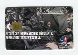 Telecarte 50u °_ 1270A-Armée De Terre-Gem2-04.03-0804 Haut- R/V - 50 Unità