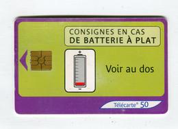 Telecarte 50u °_ 1272-Consignes Batterie-Gem2-04.03-1057 Serré- R/V - 50 Unità
