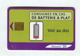 Telecarte 50u °_ 1272B-Consignes Batterie-Gem2-05.03-5985 Serré- R/V - 50 Unità