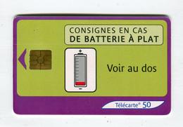 Telecarte 50u °_ 1272E-Consignes Batterie-Gem2-10.03-2566 Serré- R/V - 50 Unità