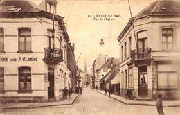 Heist - Heyst - La Rue De L'Eglise (Café Pierre Animée Edit. Henri Georges 1923) - Heist