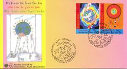 ONU GENEVE. N°537-8 De 2005 Sur Enveloppe 1er Jour. Journée Mondiale De La Paix. - FDC