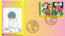 ONU VIENNE. N°462-3 De 2005 Sur Enveloppe 1er Jour. Journée Mondiale De La Paix. - FDC