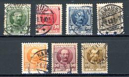 Danemark   Y&T    55 - 61    Obl   ---    Excellent état. - Used Stamps