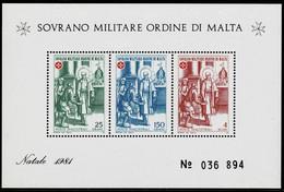 Malta 1982,Michel# Block  ** Christmas: Blessed Don Garcia Martinez - Sovrano Militare Ordine Di Malta