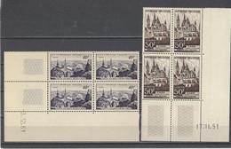 FRANCE. YT Coins Datés  N° 916/917   Neuf **   1951 - 1950-1959