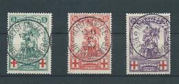 "N° 126/128 OBLITERES ""HEYST AAN ZEE"" - 1914-1915 Croce Rossa"