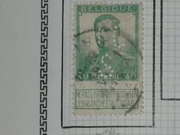BELGIQUE ALBERT Ier N° 114 - 1912 Pellens