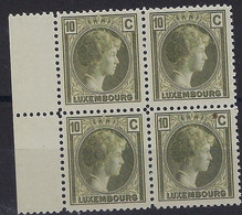 Luxembourg - Luxemburg - Timbres Charlotte 1926  Bloc à 4  10C.  MNH** - Neufs