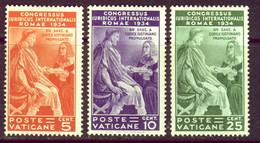 H466 - VATICANO - Sassone # 41/43 Mai Linguellati - PRIMA SCELTA - Neufs